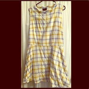 Vintage recreation plaid tunic dress *NWT*